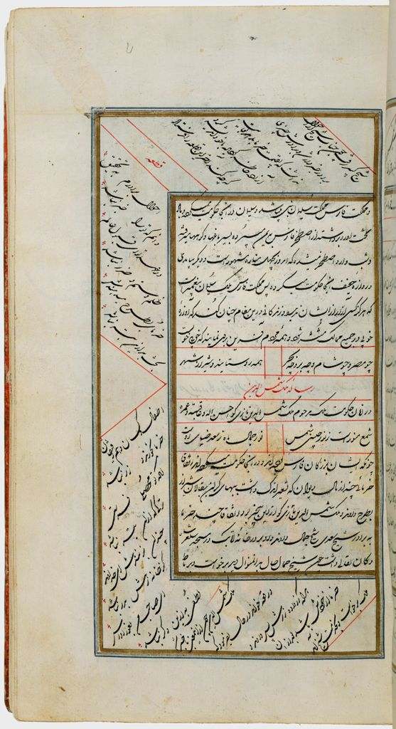 Poetry (Recto), Painting (Verso), Folio 20 From A Manuscript Of The Complete Works Of Sa`di