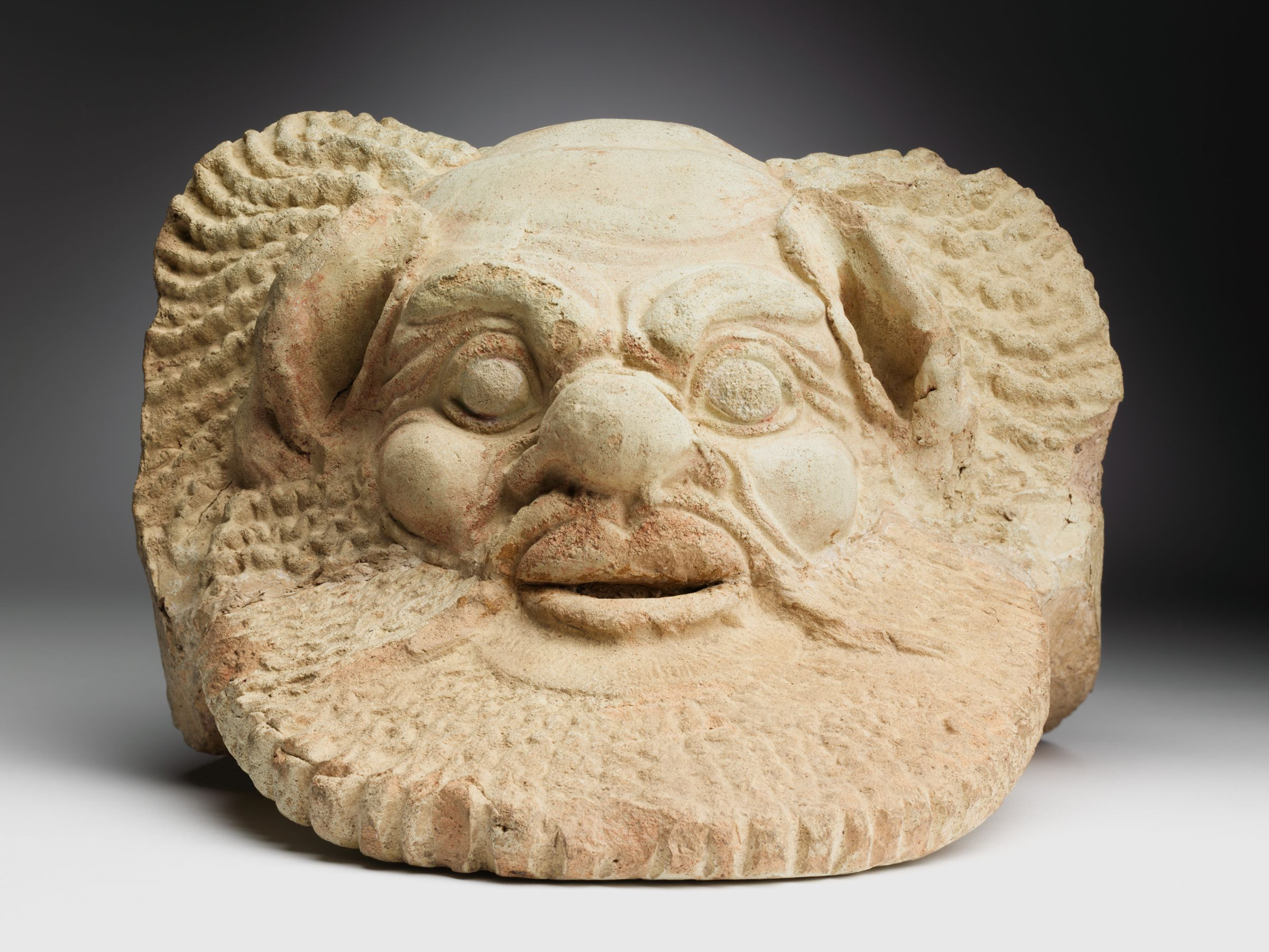 Antefix In The Shape Of A Mask Of Silenos