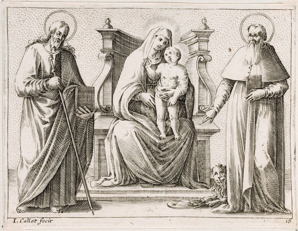 Virgin And Child With Saints James And Jerome