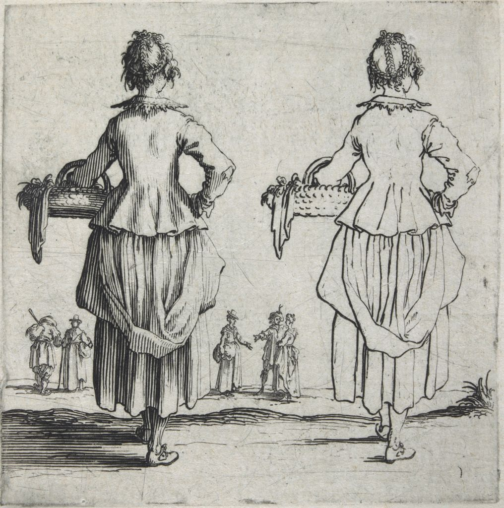 Peasant Woman With A Basket On Her Arm, Seen From The Back