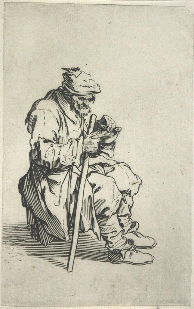Seated Beggar, Eating