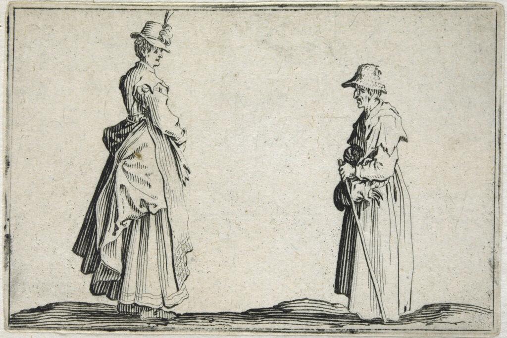 Two Women Seen In Profile