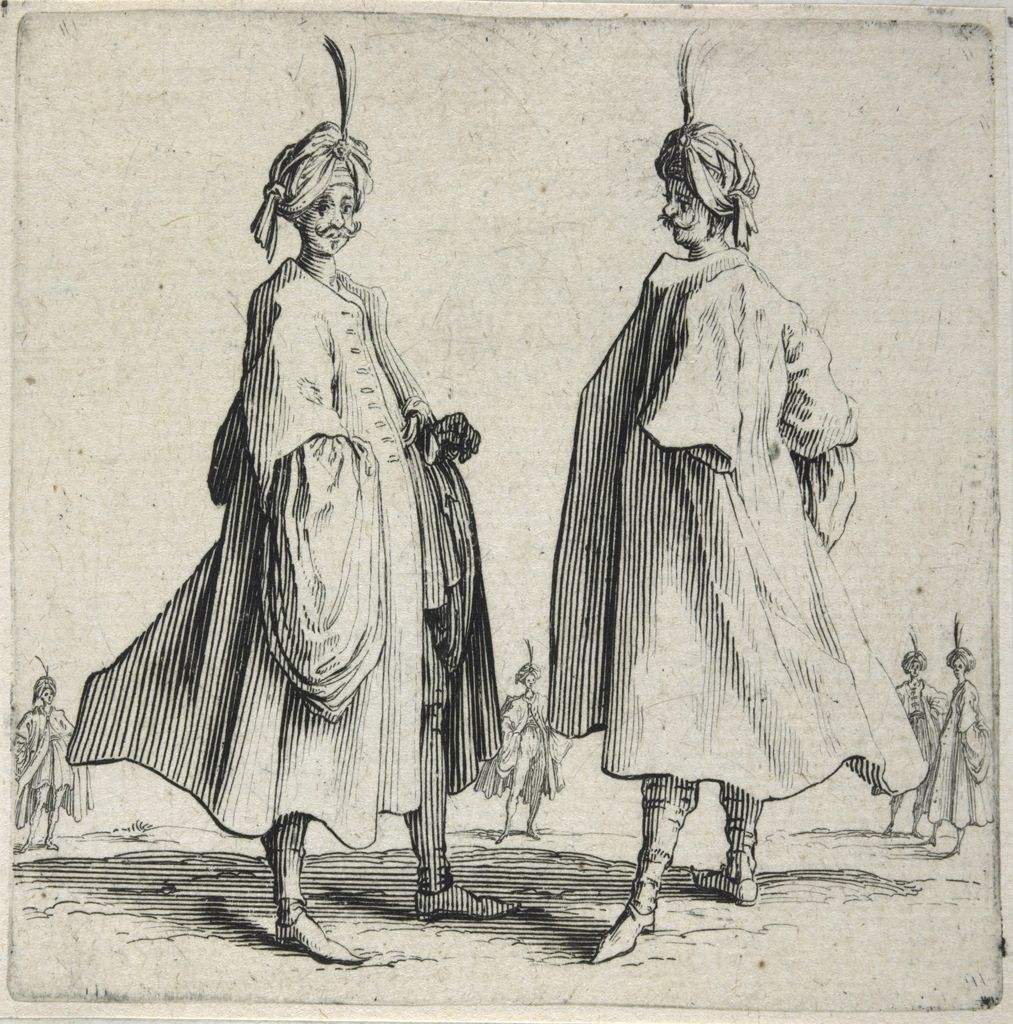 Two Turks With Feathered Turbans
