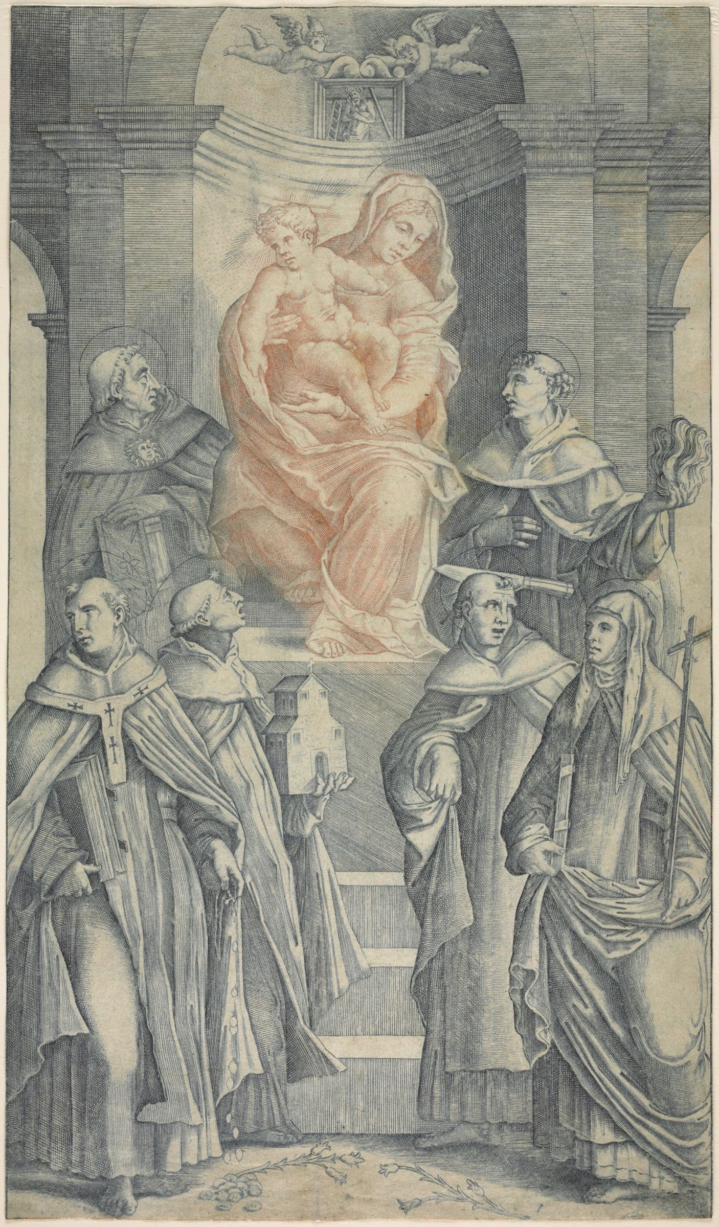 Madonna Adored By Saints Of The Dominican Order