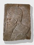 Fragment of a Wall Relief: Head of a Winged Protective Spirit