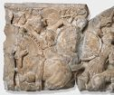 Sarcophagus Sections With Men Fighting Amazons