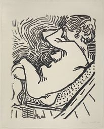 The Large Woodcut Nude
