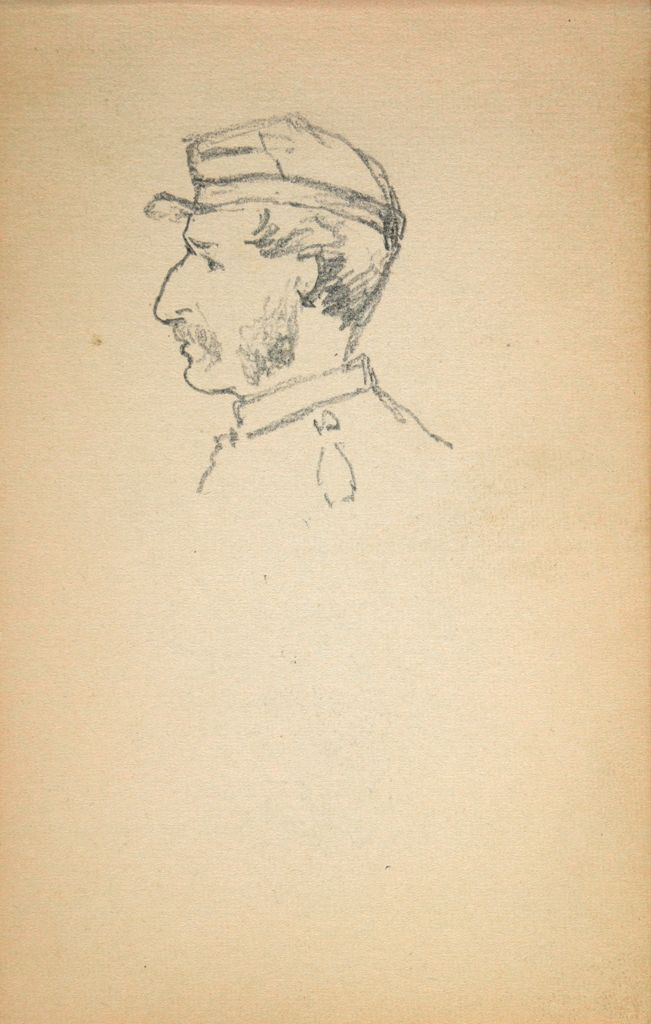 Profile Study Of A Soldier; Verso: Sketch Of A Man Working