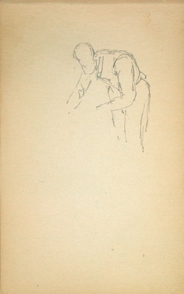 Sketch Of A Man Working; Verso: Four Figure Sketches