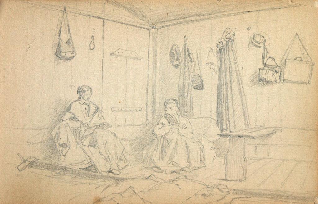 Interior Scene With Two Women
