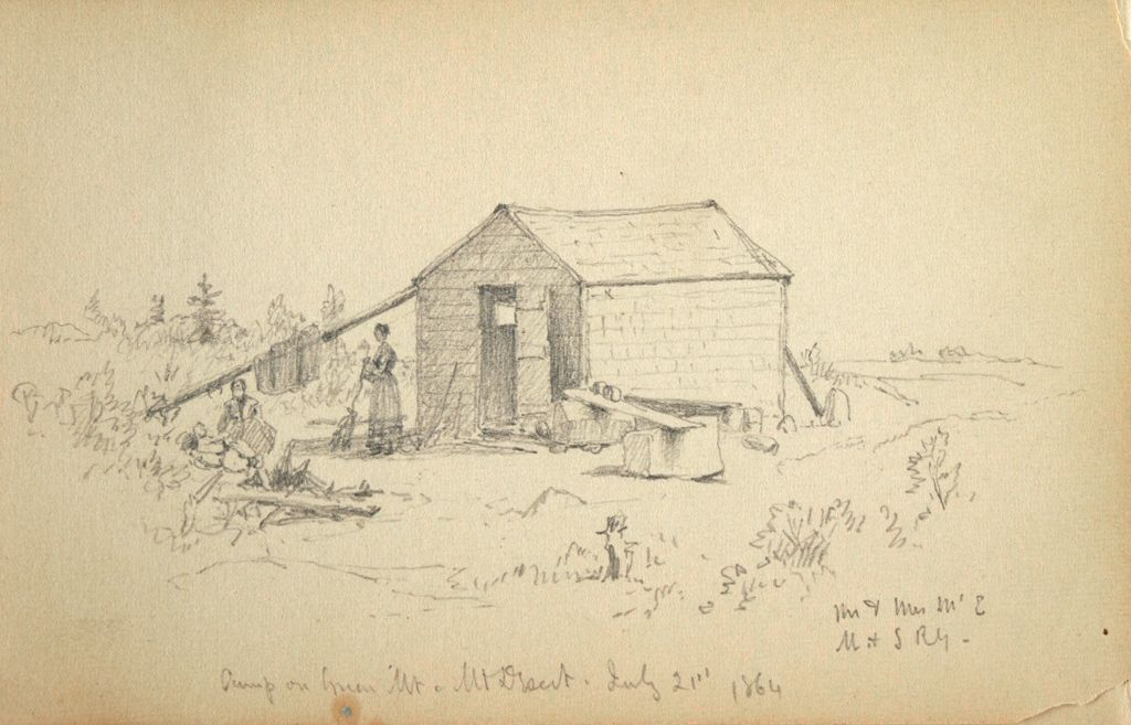 Camp On Green Mountain, Mount Desert Island, Maine; Verso: Small Landscape And Partial Shore Scene