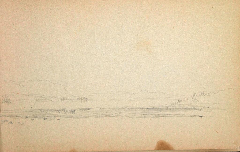 Partial Landscape; Verso: Rock Face