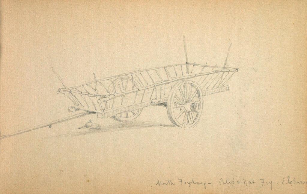 Cart; Verso: Small Lansdcape