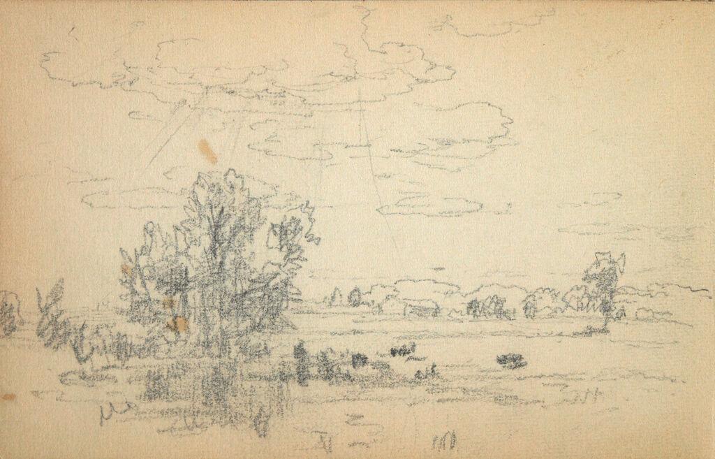 Blank Page; Verso: Landscape