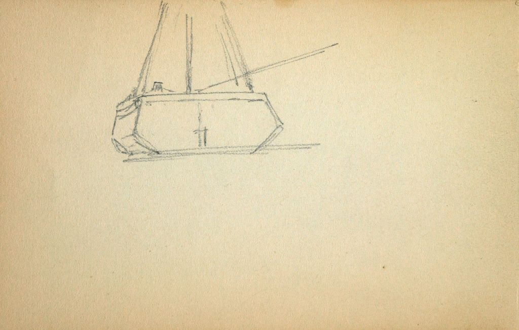 Blank Page; Verso: Boat's Stern
