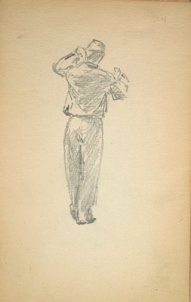 Standing Soldier; Verso: Man With Cup