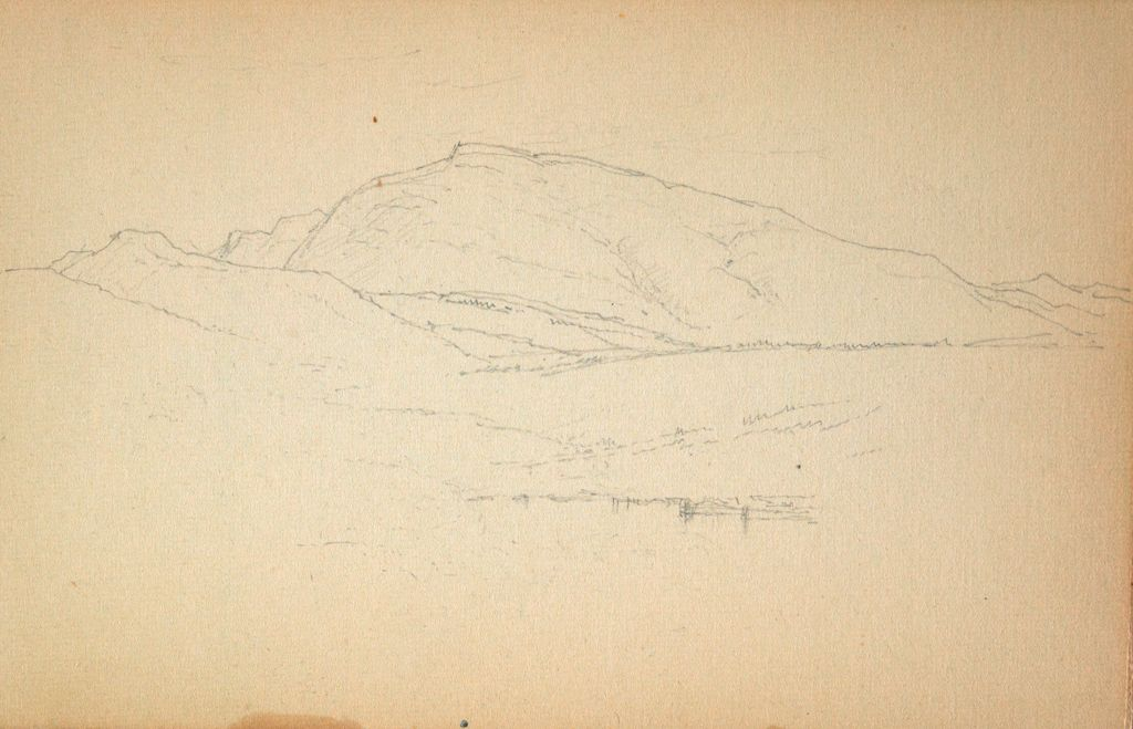 Mountain Landscape; Verso: View Of The Trapps, Shawangunk Mountains, Continued On 2001.162.26