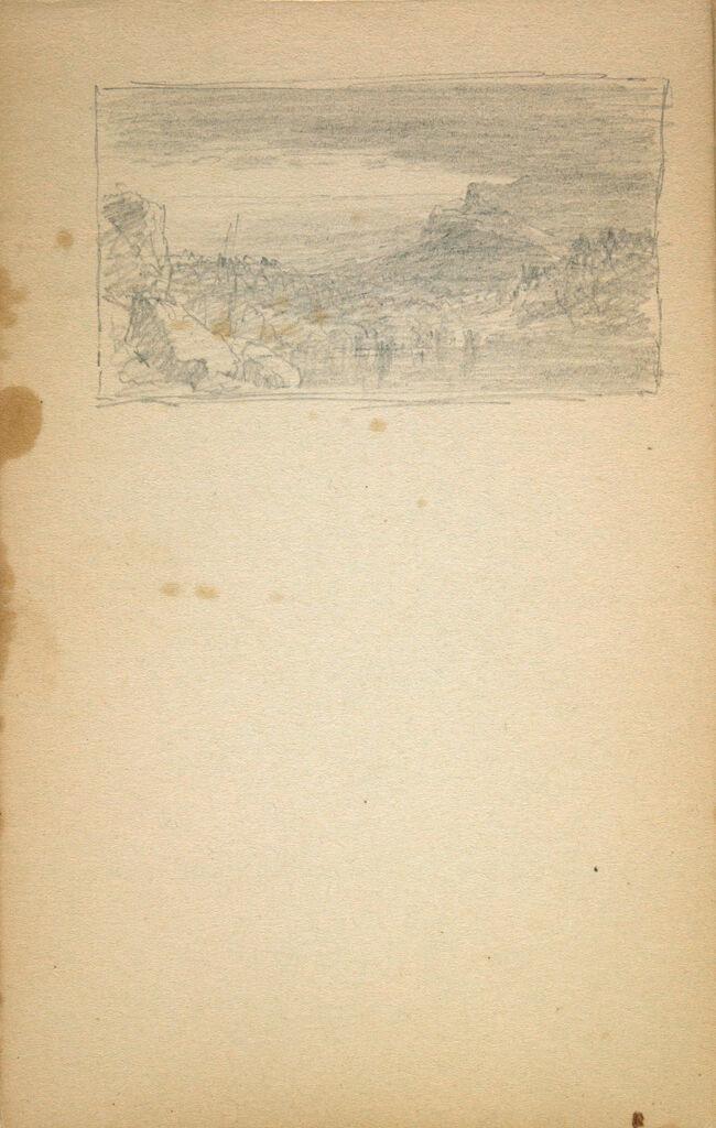 Small Landscape; Verso: Landscape