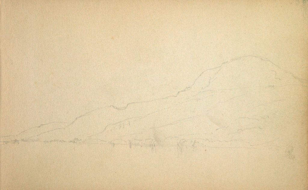 Slight Mountain Landscape; Verso: Slight Landscape With Trees