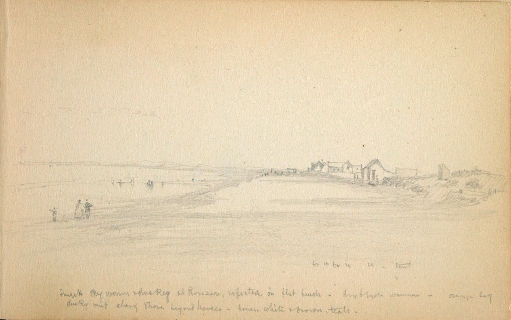 Partial Landscape With Buildings; Verso: Two Small Landscapes