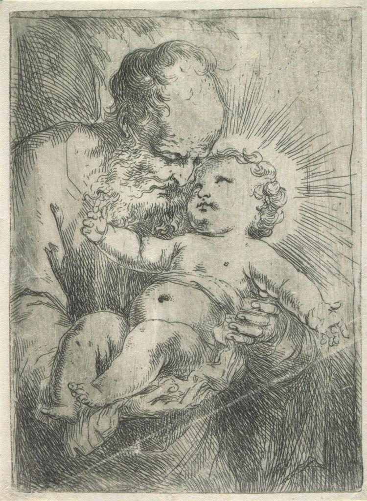 Saint Joseph Holding The Christ Child