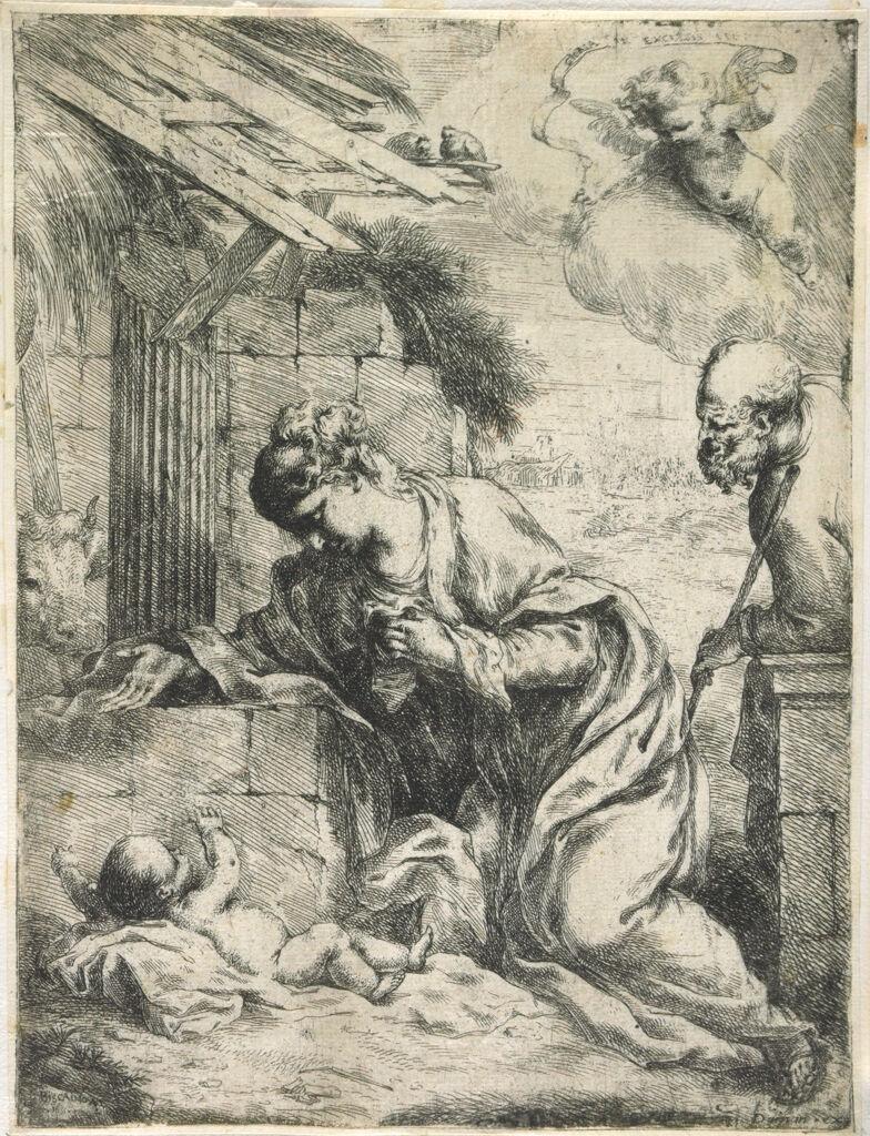 The Virgin Adoring The Christ Child With Saint Joseph