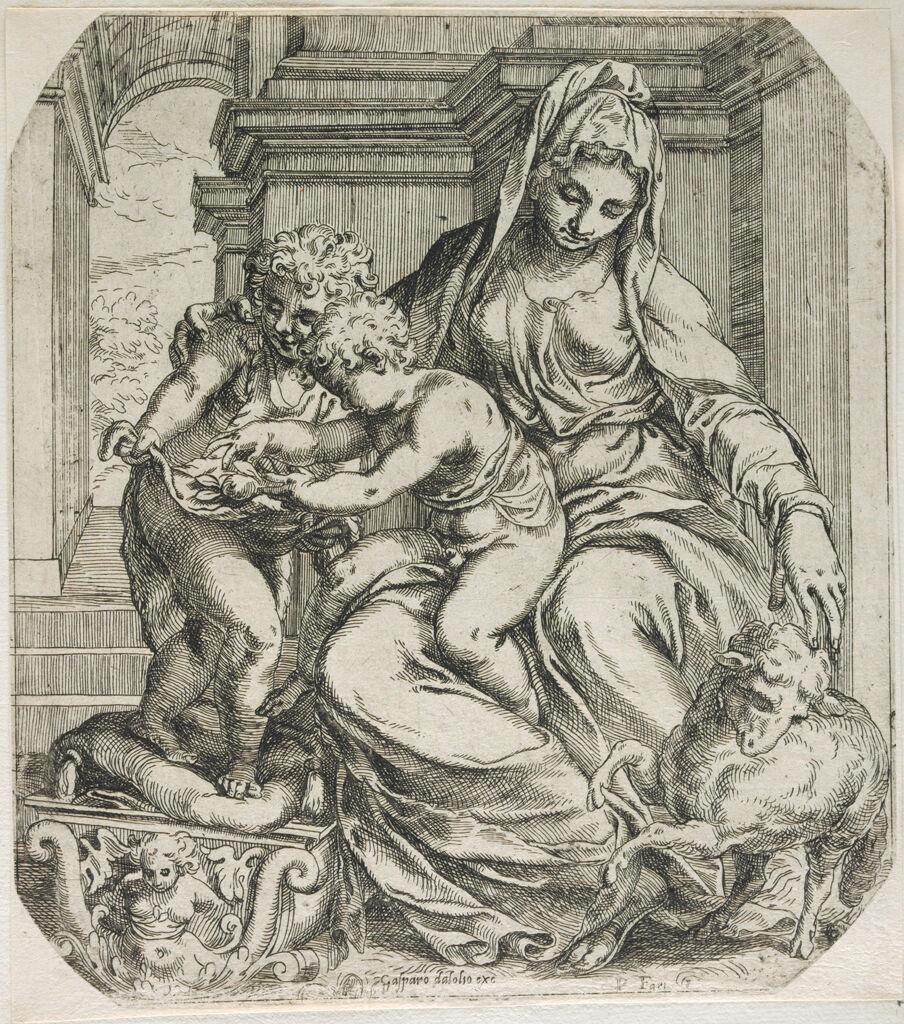 Madonna And Child With Saint John
