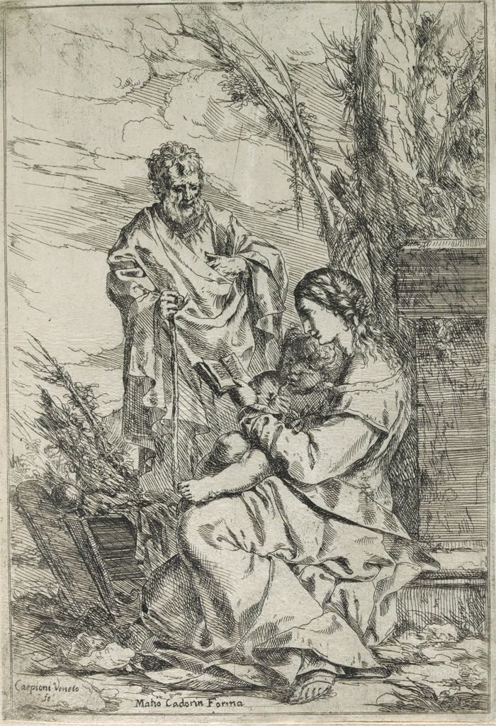 The Holy Family With The Virgin Reading