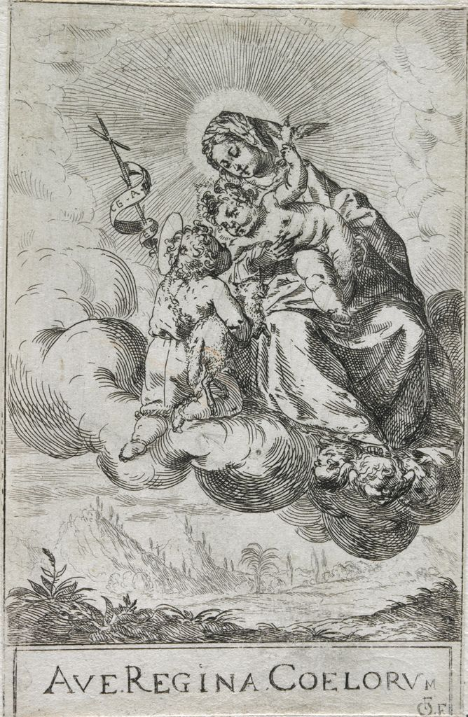 The Virgin And Child With Saint John On A Cloud