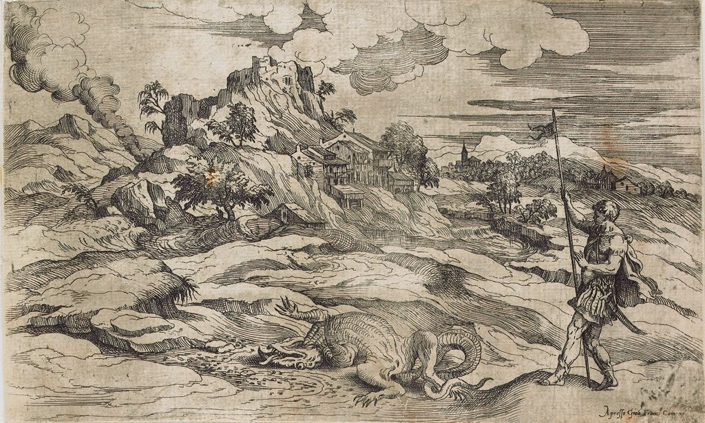 Landscape With Saint Theodore And The Dragon