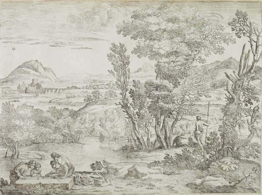 Landscape With Four Dice Players