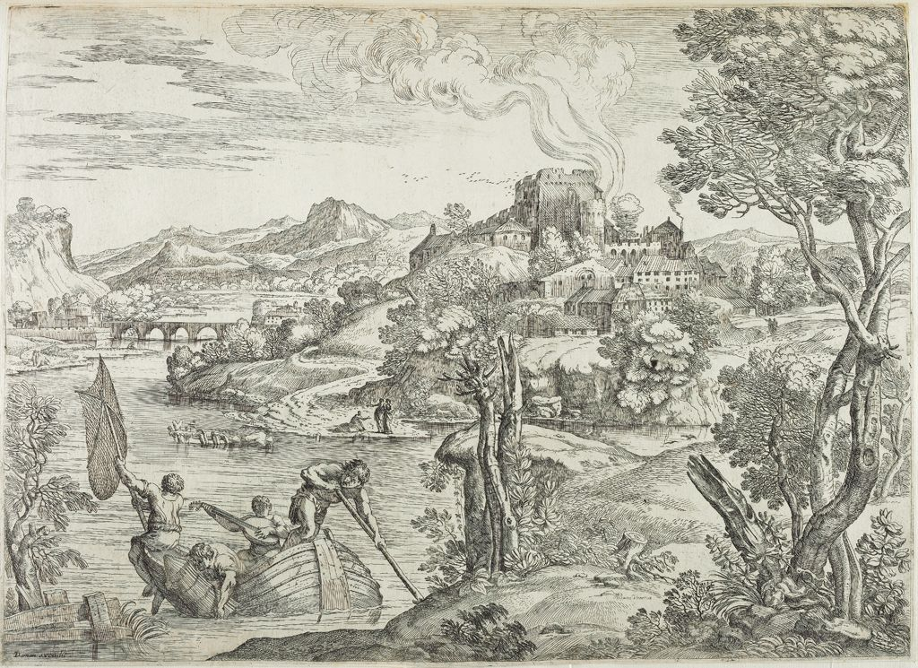 Landscape With A Luteplayer