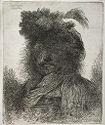 Man Wearing Plumed Fur Cap