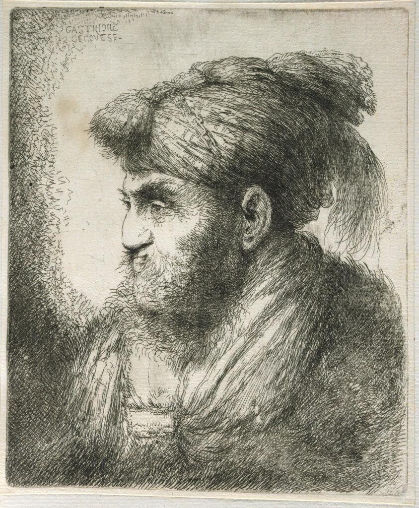 Large Study Of Head In Oriental Headdress