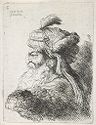 Small Study Of A Head In Oriental Headdress