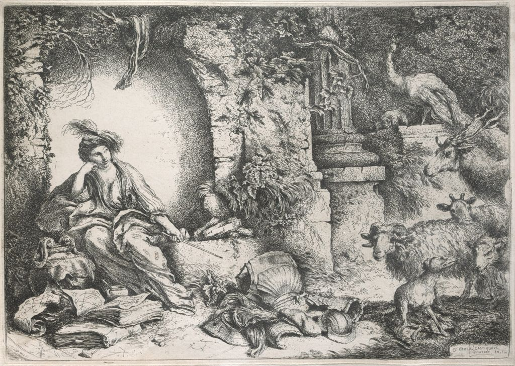 Circe With The Companions Of Ulysses As Animals