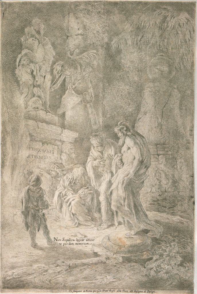 Four Scholars Among Tombs