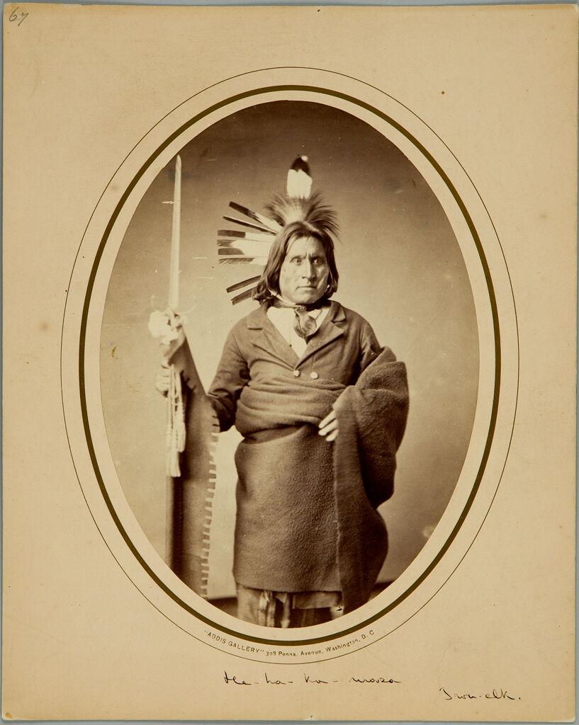 from the harvard art museums collections he ha ka ma zu iron elk sioux dakota. Black Bedroom Furniture Sets. Home Design Ideas