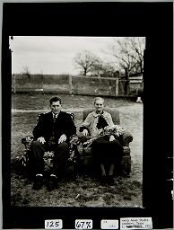 Untitled (Couple On Armchairs In Yard, Lockhart, Texas)