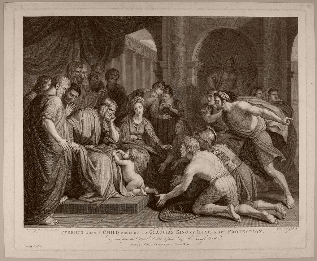Pyrrhus, When A Child, Brought To Glaucias, King Of Illyria, For Protection