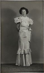 Untitled (Young Woman In Formal Dress, Hands Behind Back)