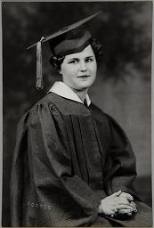 Untitled (Young Woman In Graduation Cap And Gown, Seated)