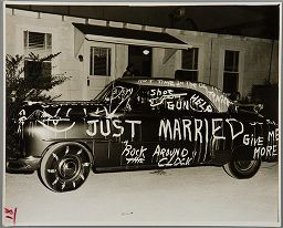 From the harvard art museums collections untitled car with just married decorations - Just married decorations for car ...