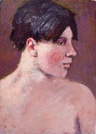 Profile Head of a Shirtless Young Man