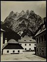 Untitled (Landscape, Buildings And Houses In Raibl, Austria, Mountain In Background)
