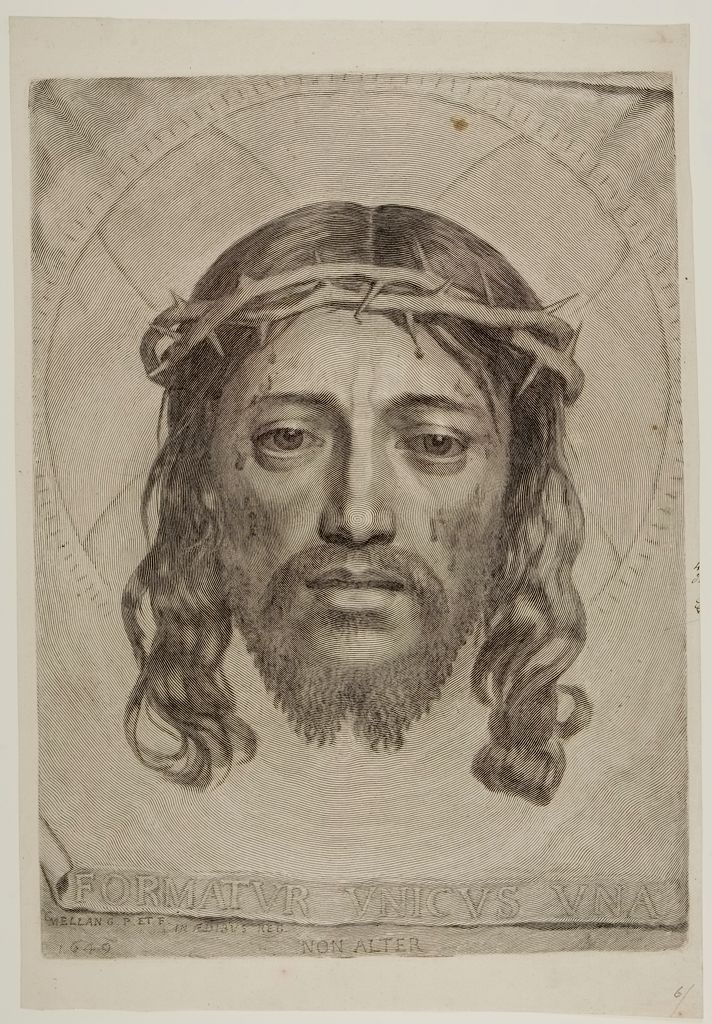Sudarium Of Saint Veronica, With The Face Of The Thorn-Crowned Savior