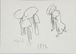 Untitled [Figures With Umbrellas]