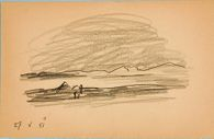 Untitled [Hills along the Coast]; verso: Untitled [Same Theme]
