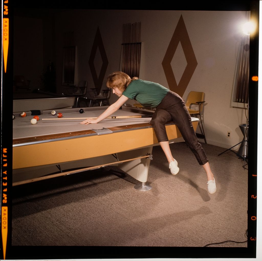 Untitled (Woman And Child Playing Pool)