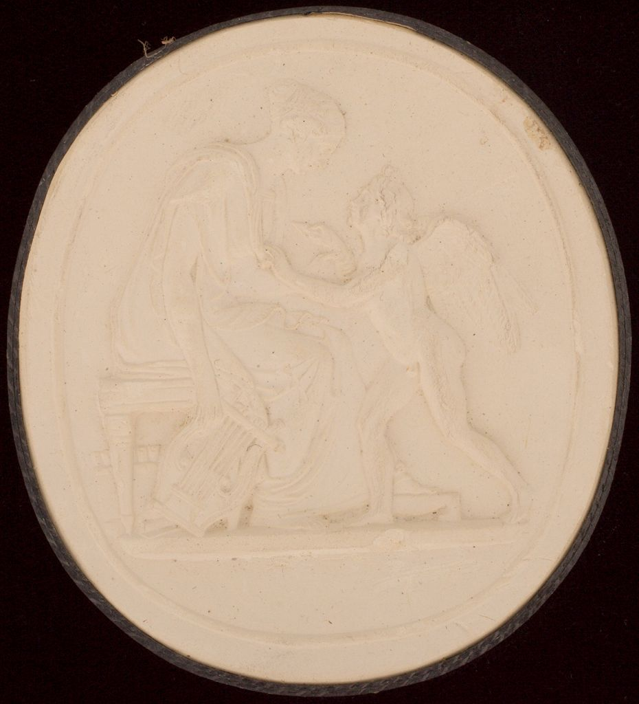Sappho Pierced By Cupid With Love For Phaon, After Gibson